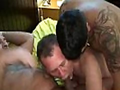 Gay dude gangbanged raw