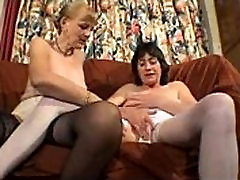Ugly mature play with her panties
