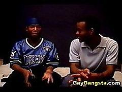 Ebony Gay Gangster in Hardcore Anal Fucking
