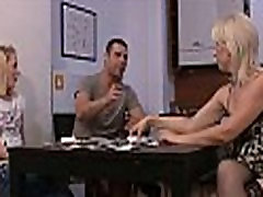 She drills her BF&039s old mom pussy