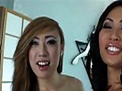 Asian American tgirls Annalise Rose and Venus Lux ass ripped