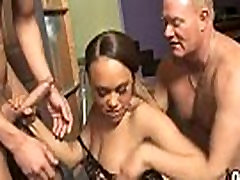 Hot ebony chick love gangbang interracial 16