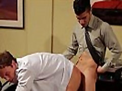 Gay office hunk gets ass ravaged