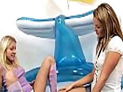 Lesbians enjoy spraying streams of piss