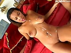 Big tits ebony threesome