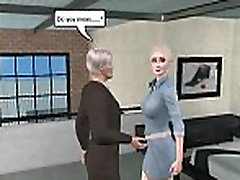 Foxy 3D cartoon blonde getting fucked by an old man