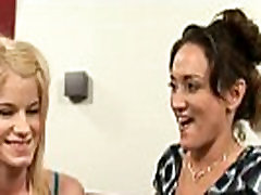 Barely legal teen and milf lesbian sex