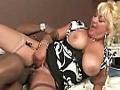 Mommy rides a very big and hard black cock 2