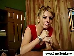 Cfnm femdoms victim cock jerk