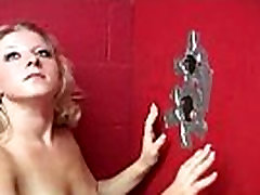 Sexy Ebony Deepthroats Gloryhole Dick 30