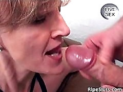 Horny and slutty mature brunette