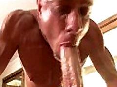 Gay hot hunk masseuse sucks on cock