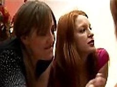 Cfnm femdoms fetish bitches pull victim cock