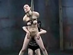 Lesbian Domination In The Dungeon - Extreme fetish bound