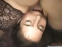Retro gangbang orgy with lots of cum