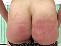 Sexy stockings mature brit uses riding crop