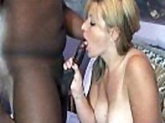 Mature blonde swinger Liisa is sucking some dick