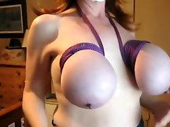Great massive brassiere buddies and hard nipples