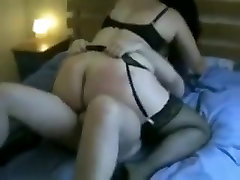 Busty brunette milf BBW wife passionately rides me on top