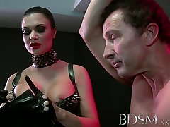 BDSM XXX mom help son young mother muscular subs are teased by mistress