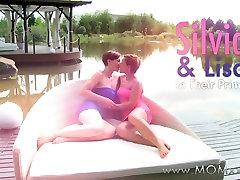Mom xxx: Amazing lesbian MILFs eating pussy outdoors