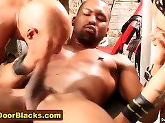 Group black dude cums hard