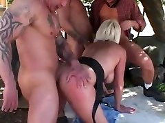 Mature has fun outside