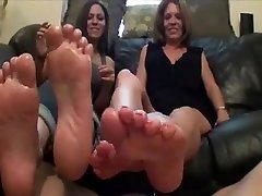 Mature Slut & Teen Bitch 7 Footjob