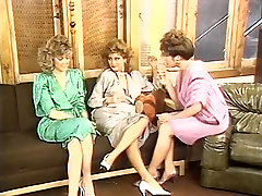 Gail Force, Kim Alexis, Tiffany Storm in vintage sex video