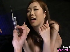 Super hot Japanese babes doing weird sex part2