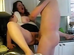 HOT FUCK 195 Cheating BBW Wife in the Kitchen