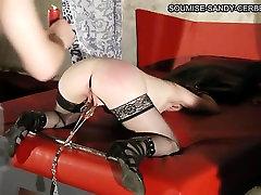 Mature French slut in stockings enjoys BDSM