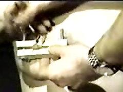 BDSM vintage movie with nipple torture