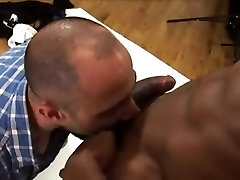 Sexy Black Gay Model Gets Naughty With His Photographer