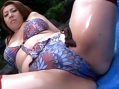 Yumi Kazama&180;s Curvy Body Fucked In Her Bikini And Stockings