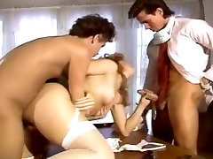 Shanna McCullough, Peter North, Tom Byron in cumshot king Peter North and Tom Byron do a hottie