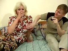 Russian Mature Wioman Sucks and Fucks Young Boy WF