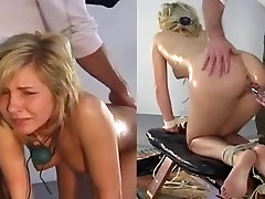 Anal Pain with Glass Dildo