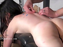 sub blowjobs and rough sex of play piercing masochist in submissive oral service to her master