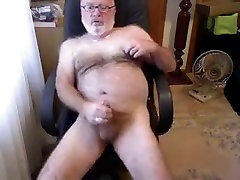 Daddy bear jerking off 2