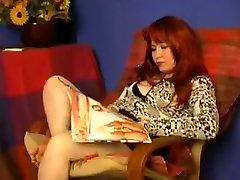 Redhead mature entertain a blonde