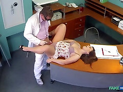 Sabina in Doctors meat injection eases curvy patients back pain - FakeHospital