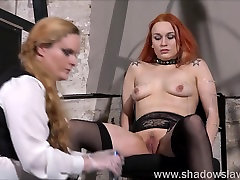 Lesbian play piercing punishment and extreme sexvideo hansikasex jerk off dining table of Dirty Mary in needle torture and hardcore masochist en