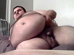 Fat bear jerking off