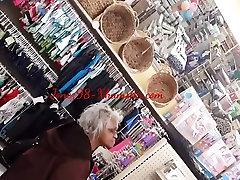 Black Granny upskirt
