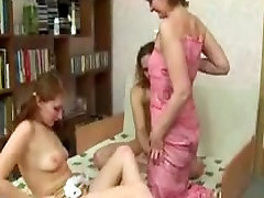 Russian harlots fist and welcome a male ally