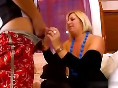 Blonde mature pantyhose gangbang