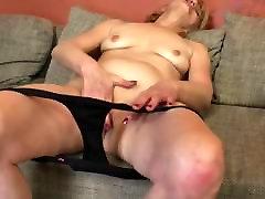 Naughty mature lady masturbating