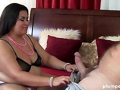 Latina BBW mum loves big cock