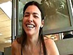 FTV Danica brunette woman public flashing tits and fingering